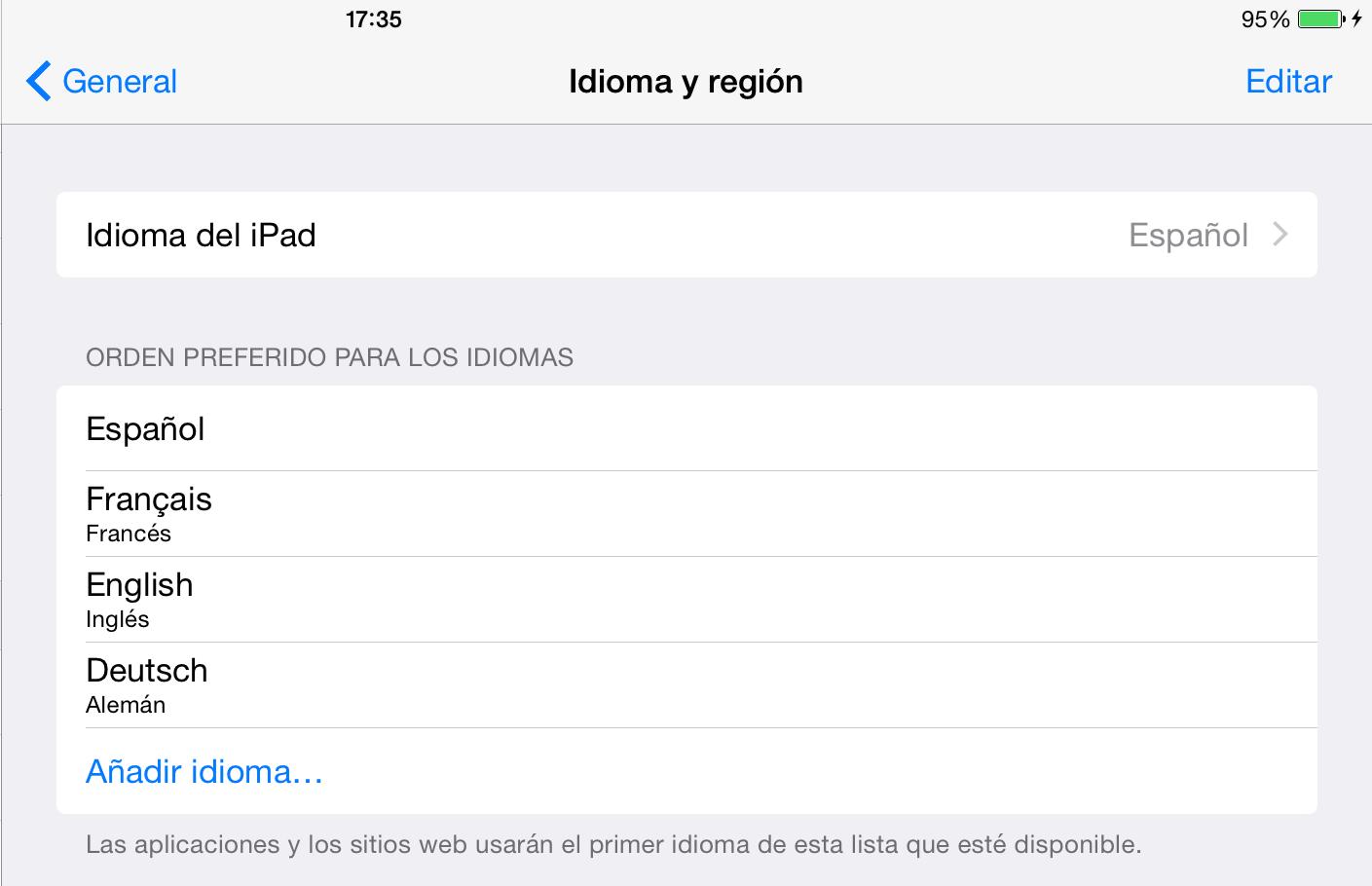 iPad en espagnol, Qwaz Pro en français