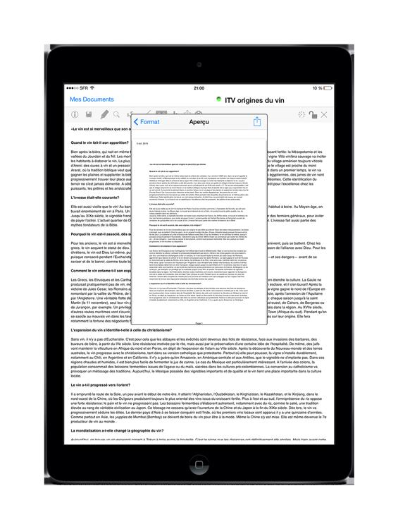 iPadFRCommunicate
